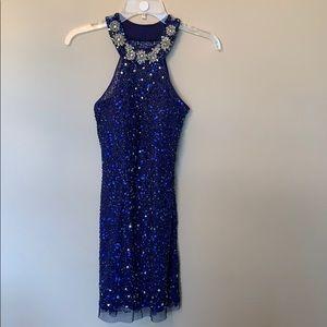 Blue sequin dress 👗